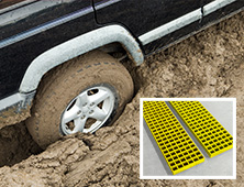 GRP vehicle recovery grating boards