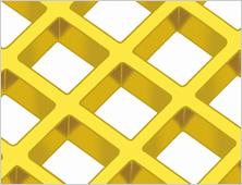 Smooth fibreglass mesh grating