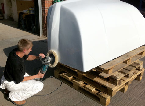 3. Manufacture of commercial vehicle cab roofs.
