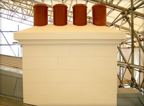 12. Replica GRP chimney.