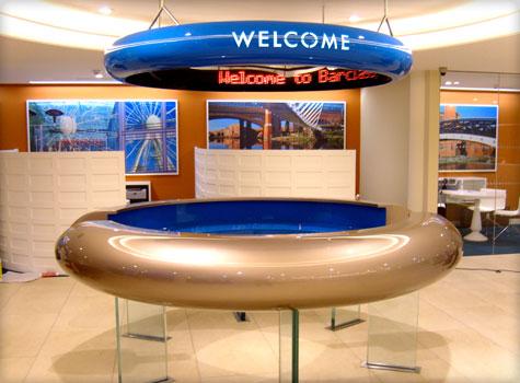 grp moulded interior design desks facias - Concierge Desk Design
