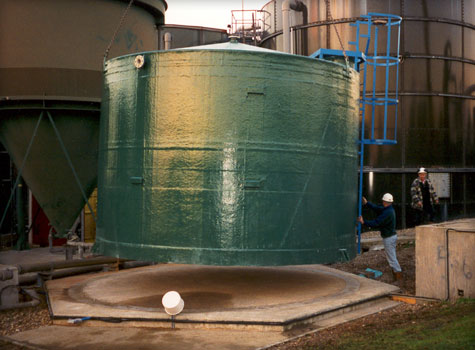 1. GRP fibreglass moulded storage tanks
