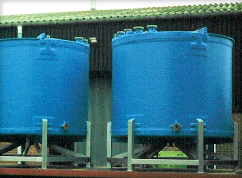 3. GRP fibreglass moulded storage tanks.