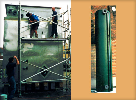 6. GRP storage tanks manufacturerd in any shape or size.