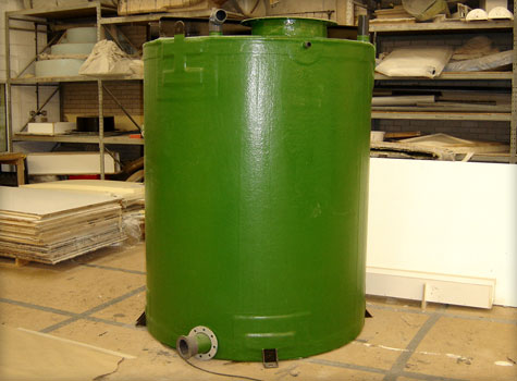 8. GRP fibreglass moulded storage tanks.