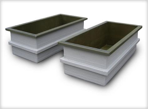 9. GRP fibreglass moulded storage tanks.
