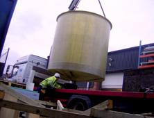 GRP Fibreglass moulded storage tanks