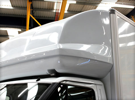 2. Moulded cab roofs for Luton Transit commercial vans.