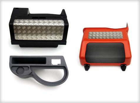 4. Vehicle radiator guard, armrest, locker Box in moulded GRP.
