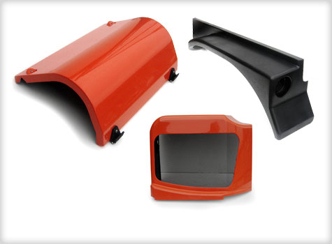 5. GRP Fibreglass vehicle engine guard, rear mudguard, pump guard.