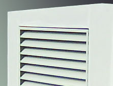 Louvered ventilation shaft covers