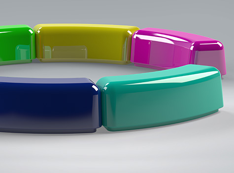 2. Bright colours, smooth curved edges for schools and child-friendly environments.