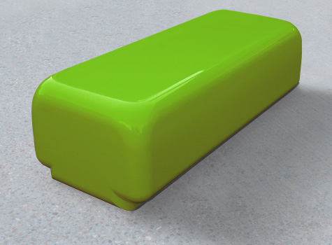 1. Morph solo bench with big curved edges as a standalone seat.