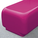 Morph bench seat in fuchsia