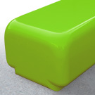 Morph bench seat in lime green