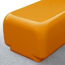 Morph bench seat in orange