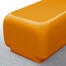 Morph bench seat in orange