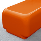 Morph bench seat in tangerine