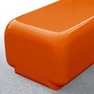 Morph bench seat in tangerine