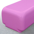 Morph bench seat in pink