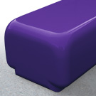 Morph bench seat in purple