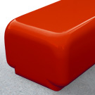 Morph bench seat in Red