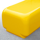 Morph bench seat in sport yellow