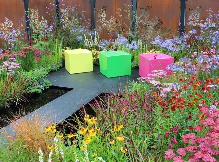 The Colour Box garden is a celebration of people helping each other within the horticultural community.