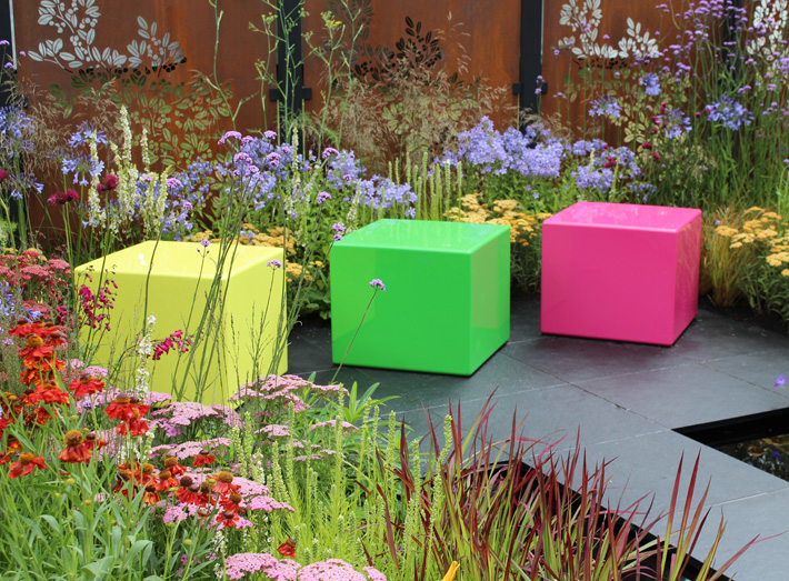 It's a fresh new garden design that's been created with visitors in mind and delivers an amazing splash of colour.