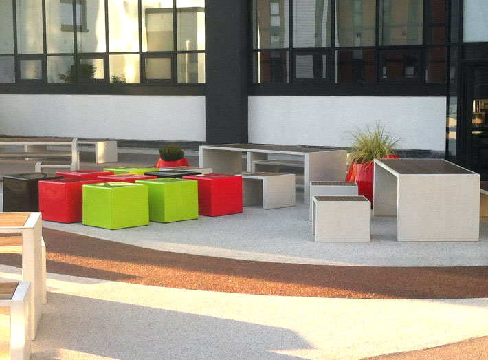 GeoMet's Cube provided the roof terrace with exactly what it needed to complete its modern and stylish look.