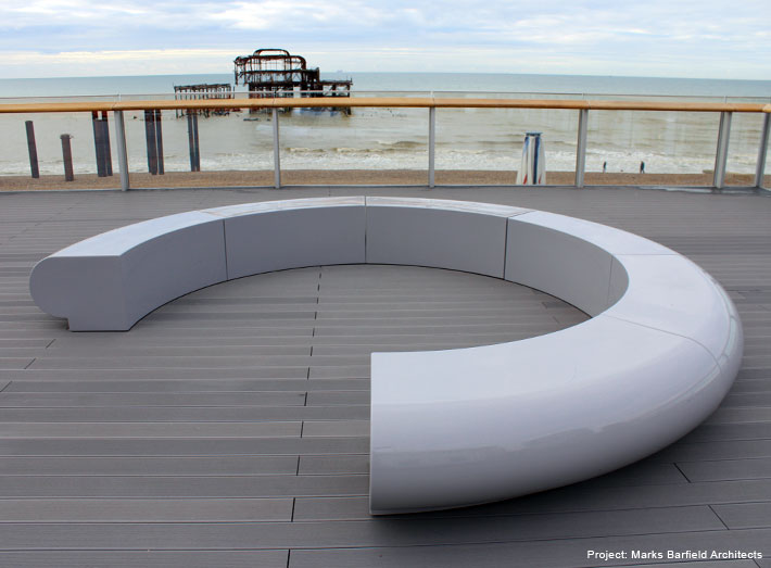 The clean lines of our minimalist Corona modular seating concept.