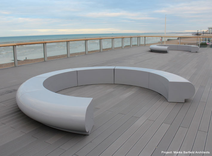 The Corona seats make a truly unique departure lounge to contemplate the seaview before your 'flight'.