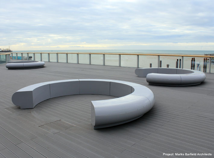 Corona circular seating is an understated, contemporary design yet comfortable and adaptable to many spaces.