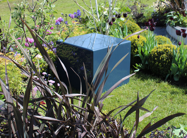 Cube seating, also available as planters.