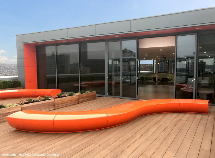 Serpentine adds form and function to all large scale outdoor areas, exhibition spaces, foyers and lobbies.