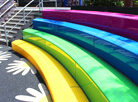 Arena amphitheatre seating brings everyone together at Primary School in Hampstead, London.