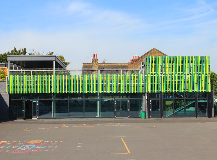 The school benefits from a spectacular roof terrace to be enjoyed by the children for quiet time during play, or for outdoor learning.