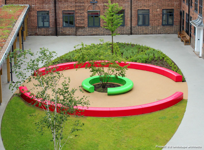 GeoMet was delighted to provide the seating for their striking 'eye' shaped centrepiece.