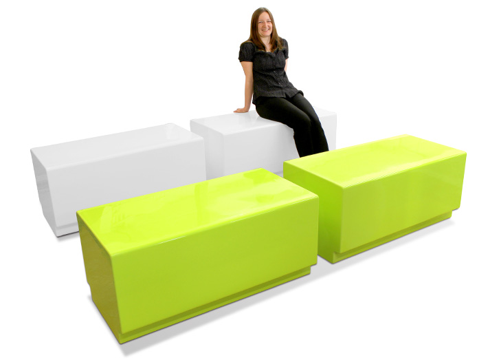Bench seating, an alternative to Morph, with smaller corner curves.
