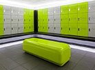 Locker room seating for new chain of Fitness Clubs