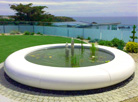 Aqua Corona Water Feature in Jersey, Channel Islands.