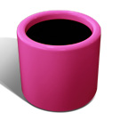 Drum planter in fuchsia