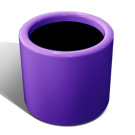 Drum planter in purple