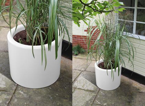 1. Drum planters enhance your environment.