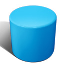 Drum stool seat in blue