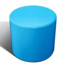Drum stool seat in blue
