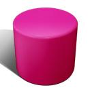 Drum stool seat in fuchsia