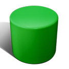 Drum stool seat in green