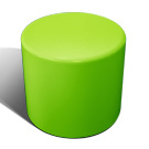 Drum stool seat in lime green
