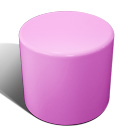 Drum stool seat in pink